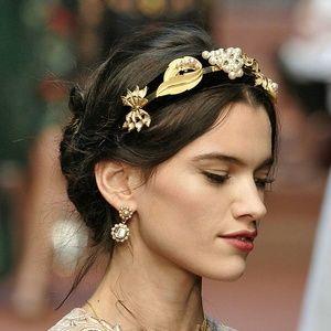 NIB DOLCE & GABBANA Pearl Headband Hair Diadem